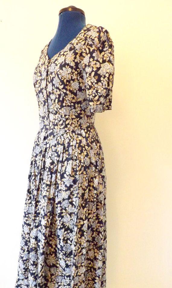 1980s Laura Ashley vintage floral tea dress by CooksVintage