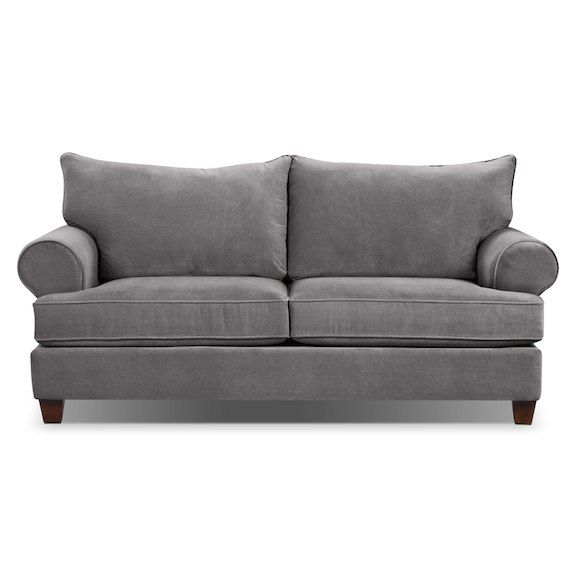 Living Room Furniture - Paige Microsuede Full-Size Sofa Bed - Grey