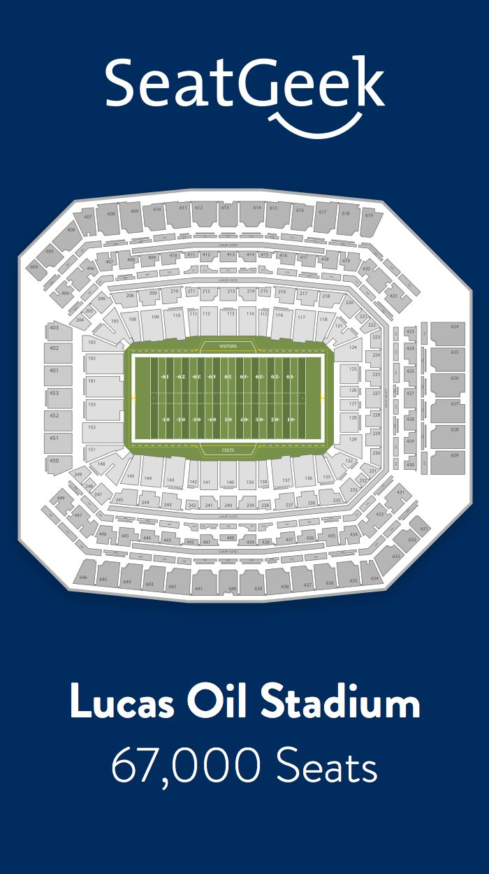 Find the best deals on Indianapolis Colts tickets and know exactly where you'll sit with SeatGeek.