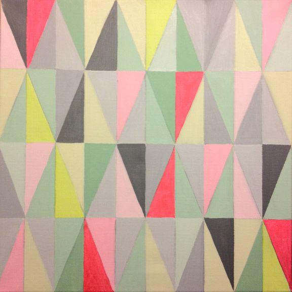 Voila - det færdige resultat. Ferm Living inspireret akrylmaleri i pastel- og neonfarver. Fotograf: Susanne Randers