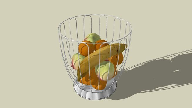 Alessi look-a-like basket with fruit - 3D Warehouse