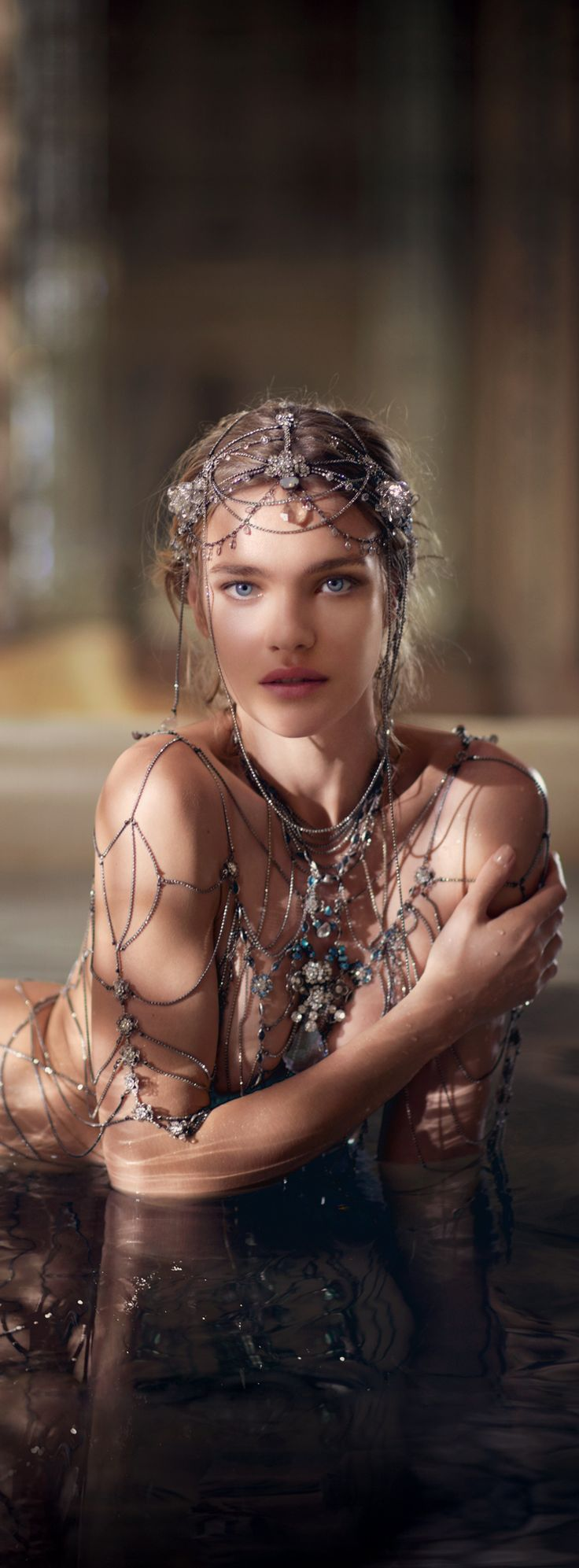 Fairytale fashion fantasy / karen cox. ♔ Natalia Vodianova The legend of #Shalimar by Guerlain