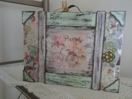 17 best images about patinas y decoupage on pinterest - Cuadros shabby chic ...
