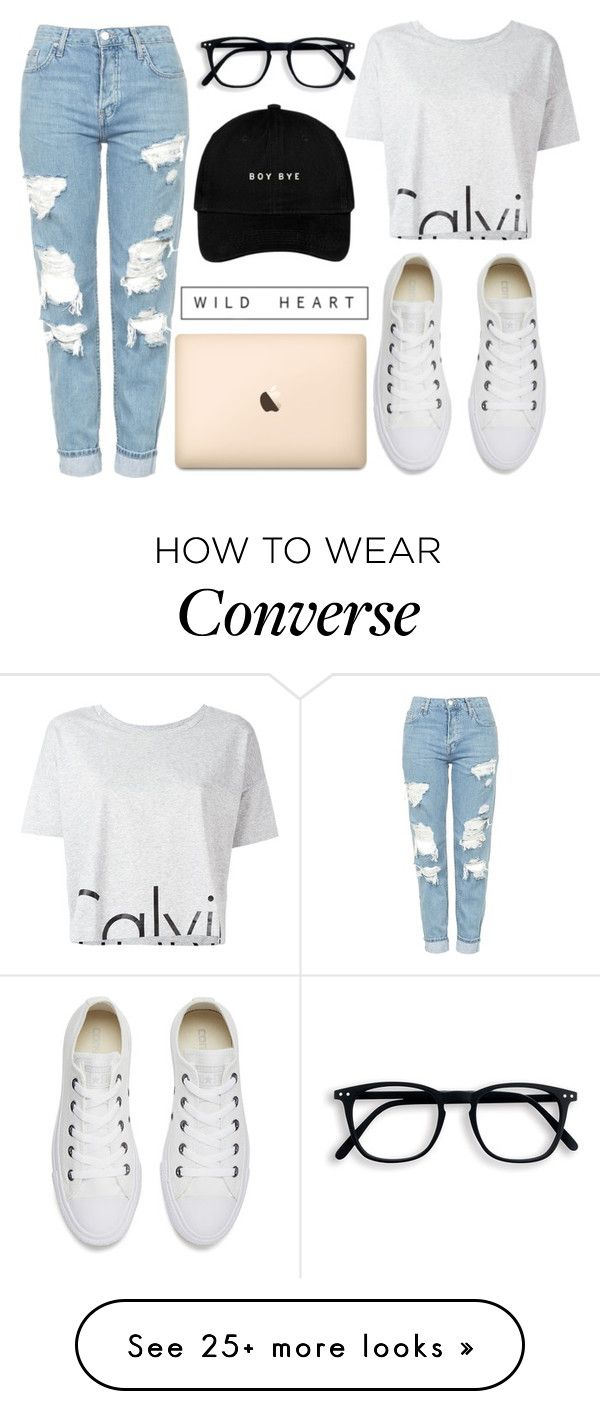 """Wild heart"" by kattykrazy on Polyvore featuring Calvin Klein Jeans, Topshop and Converse"