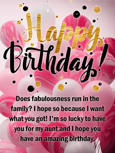59 best birthday cards for aunt images on pinterest wish your favorite aunt an amazing birthday and send her this snazzy birthday greeting card festive pink balloons and m4hsunfo Gallery