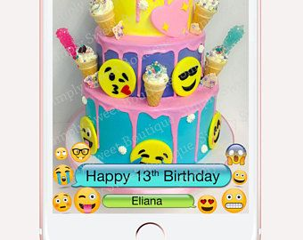 Snapchat birthday geofilter, emoji filter, emoji invitation, emoji party, location filter, on demand filter, emoji birthday party, geofilter