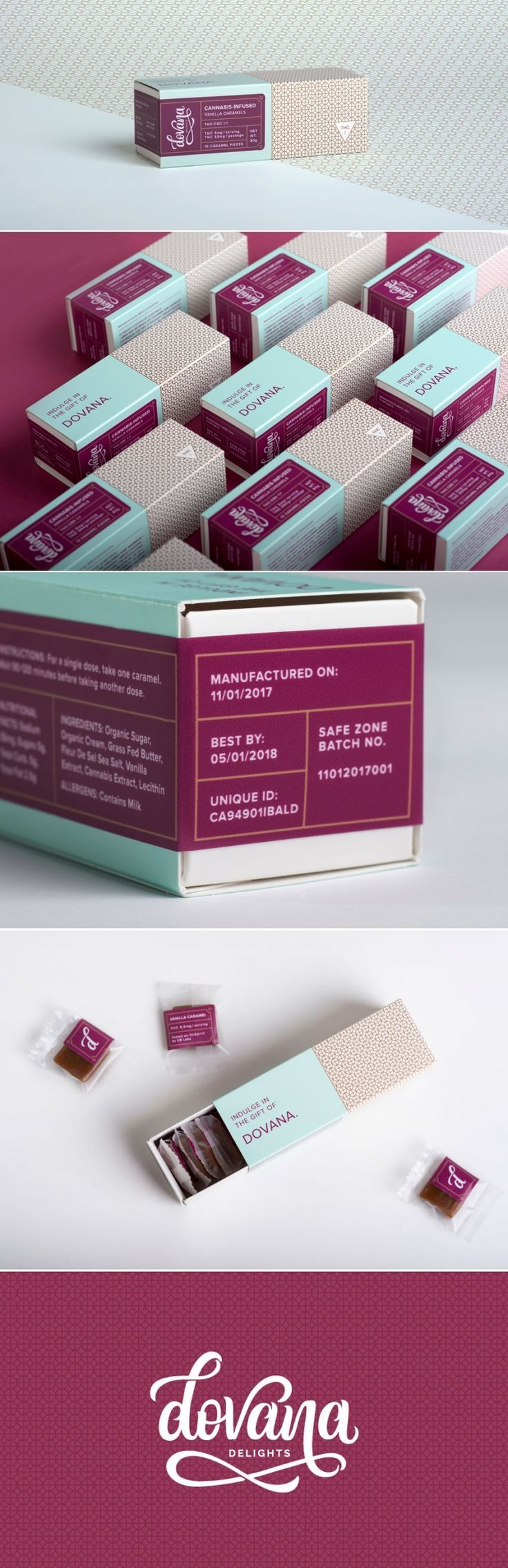 Check Out The Gorgeous Packaging For This High-End Cannabis Edible Brand — The Dieline | Packaging & Branding Design & Innovation News