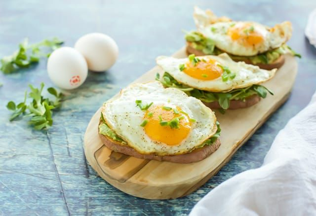 Sweet Potato Toast with Egg