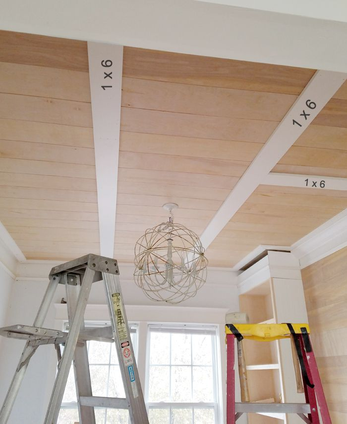 DIY - Rustic Coffered Ceiling In 2019