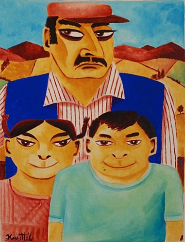 "Graham Knuttel ""Family Portrait"" #family #art #painting #colours #GrahamKnuttel #DukeStreetGallery"