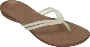 Women's Crocs Isabella Flip Sandal, Size: 5 M, White/Bronze