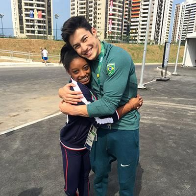 Buzzing: Simone Biles Has a Funny Social Media Love Fest with Her 'Brazilian Boyfriend' Arthur Nory During the Olympics