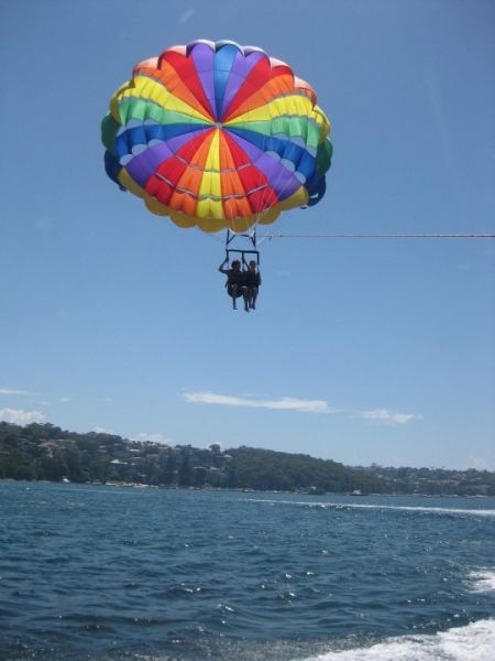 Parasailing off Manly beach