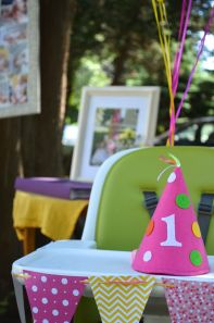 Pink and Yellow 1st Birthday Party
