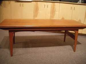 Danish Modern Solid Teak Convertible Table Converts From A Coffee Height To Dining Room In Perfect Condition Via UsedCowichan
