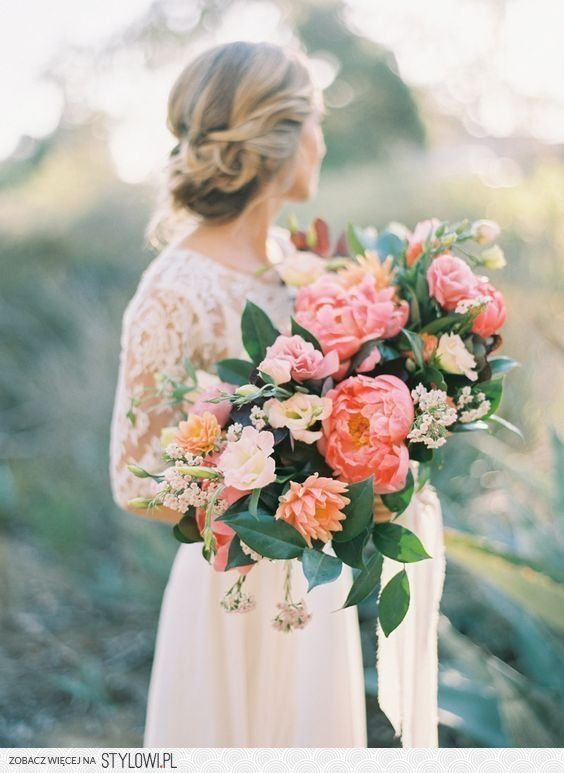 33 Peony Wedding Bouquet Ideas for brides of every styl… na Stylowi.pl
