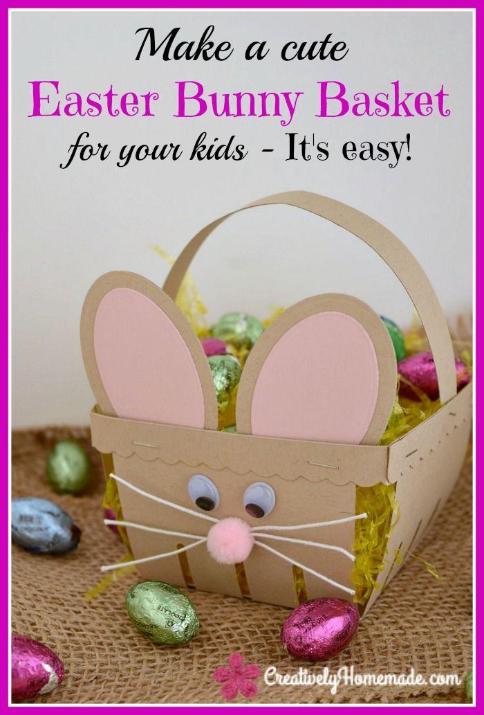Homemade Easter Bunny Basket Crafts For KidsEaster