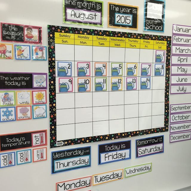 Calendar Design For Preschool : Organized and cohesive classroom calendar at school