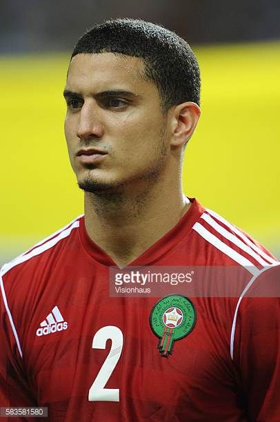 Michael Basser of Morocco during the 2012 African Cup of Nations Group C match between Gabon and Morocco at the Stade de l'Amitie in Libreville Gabon...