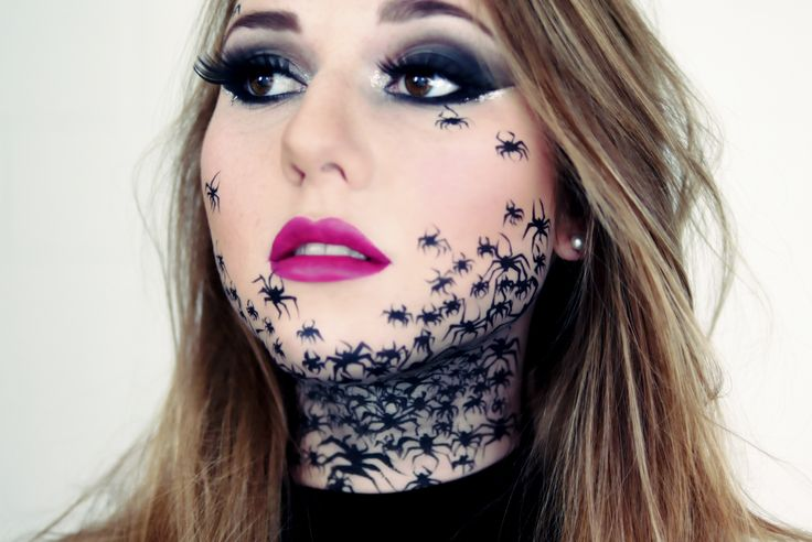 spider make up beauty pinterest schminken halloween. Black Bedroom Furniture Sets. Home Design Ideas