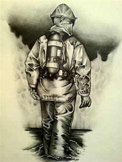 image result for pencil drawings of firefighters animals
