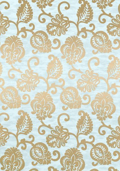 Sprauer #wallpaper in #aqua from the Richmond collection. #Thibaut