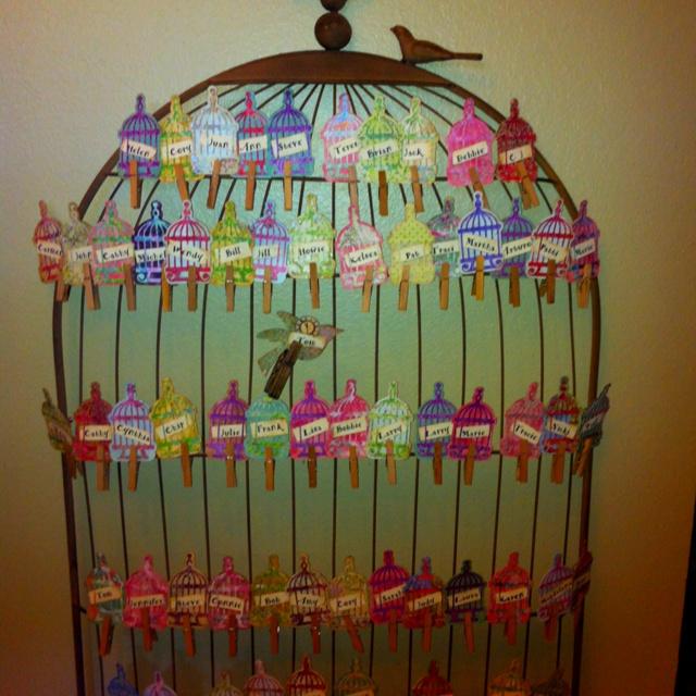 Birdcage Name Tags Birds Birdcages Birdhouses Preschool