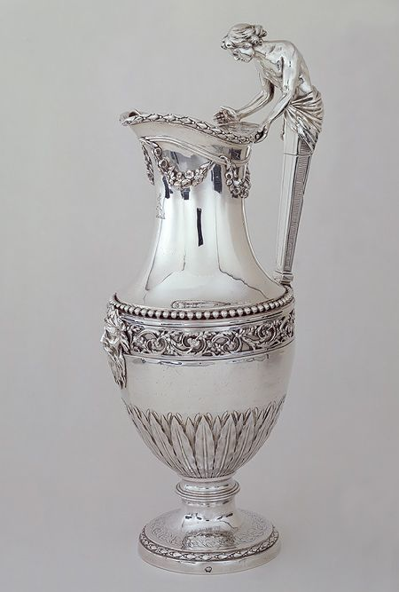 ❤ -Ewer, 1784–85  Marked by Jean-Baptiste-François Chéret (French, master in 1759)  Paris  Silver