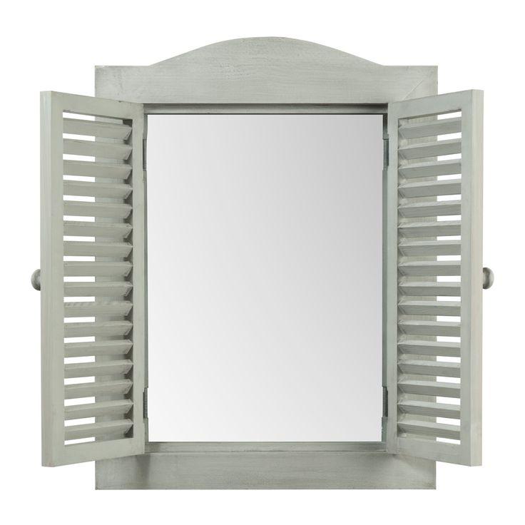 Grijze Landelijke venster spiegel