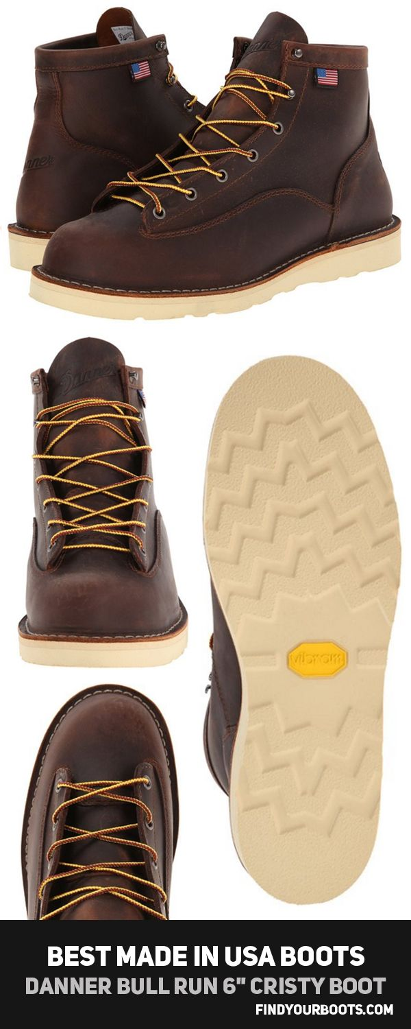 "Danner Bull Run Cristy 6"" Work Boots - Best men's leather boots made in USA. Find out which other boots made the list at http://www.findyourboots.com/best-mens-boots-made-in-usa/"