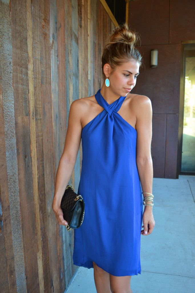 Twisted Delight, Royal Blue Dress @TheMintJulep | Fishbowl Fashion