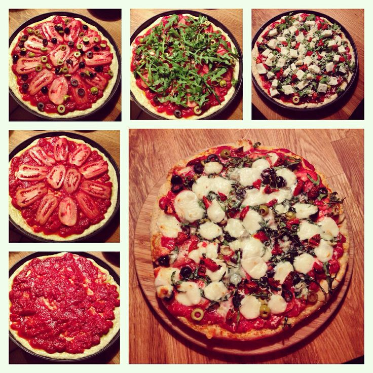 Making of a very tasty and easy homemade pizza. Only 20 minutes in oven :-)