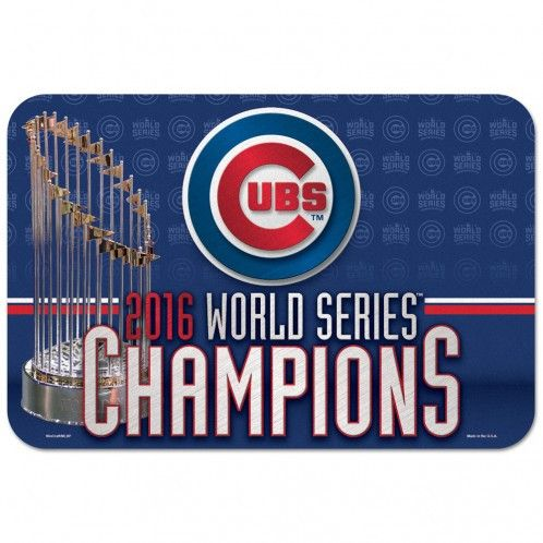 "WORLD SERIES CHAMPIONS CHICAGO CUBS SMALL MAT 20"" X 30"""
