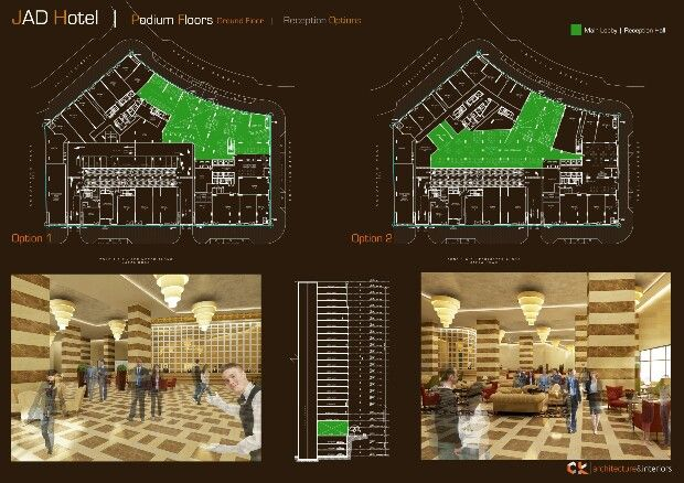 Hotel lobby hotel layout design architecture