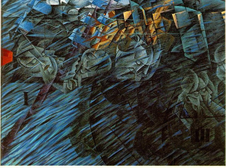 Boccioni, Umberto States of Mind: Those who go 1911 Oil on canvas 70.8 x 95.9 cm Museum of Modern Art, New York
