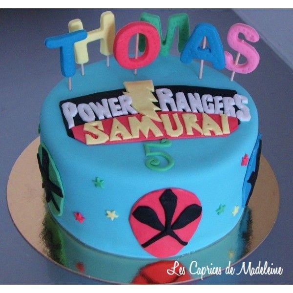 le gâteau Power Rangers                                                                                                                                                     Plus