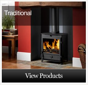 traditional-fireplace-surround-with-log-burner - Google Search