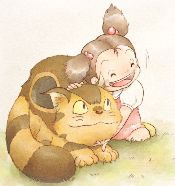 Kittenbus loves Mei - My Neighbor Totoro, Studio ghibli