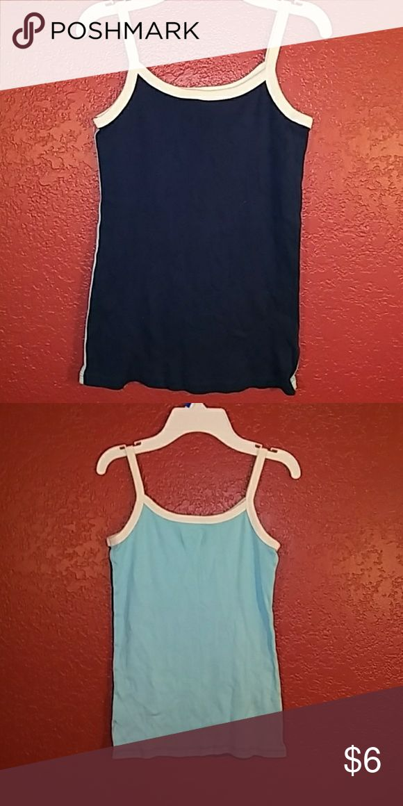 Old Navy tang top, size L Old Navy tang top, size L. Front is naby blue and white. Back is sky blue and white. Old Navy Shirts & Tops Tank Tops