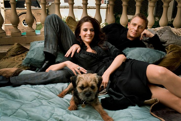 """Eva Green and Daniel Craig (with a border terrier) / Casino Royale - 2006 / """"You stopped wearing the necklace."""" - """"Yeah. It was time."""" - """"Time enough to get over someone?"""" - """"To realize sometimes you can forget the past."""""""