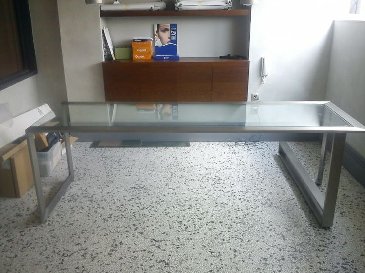 Office inox with crystal