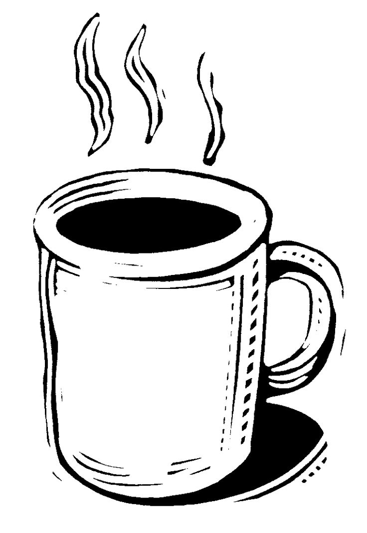 Hot Chocolate Mug Coloring Page Printable Seniors Hot