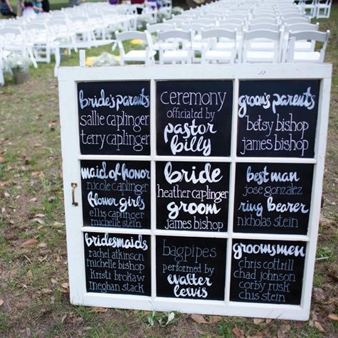 Best 25+ Wedding program chalkboard ideas on Pinterest | Events of ...