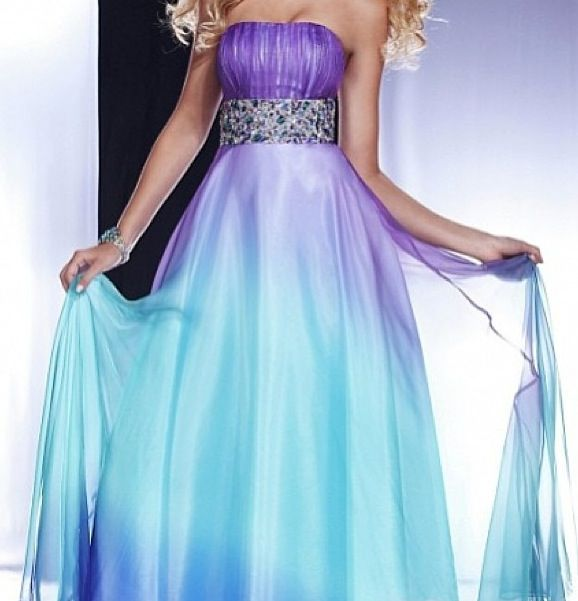purple and turquoise wedding dresses prom dress purple turquoise fade dress like there s 6877