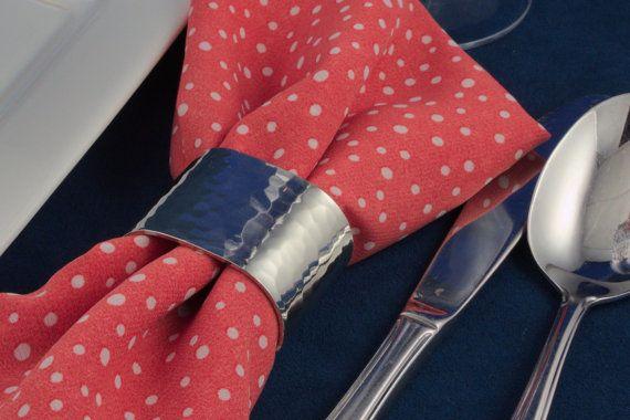 Ensemble de quatre ronds de serviette en par EtainsChaudronPewter