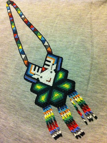 Huichol Peyote Beaded Necklace | eBay