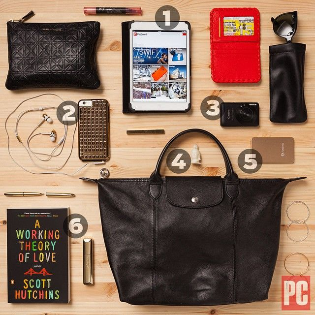 #WhatTheTech is in your bag!? Our Senior Features Writer @ChandraSteele fits a lot into her @Longchamp Le Pliage Cuir when she's out reporting. Check the comments below for details on her #tech related essentials that might help you in your everyday life.