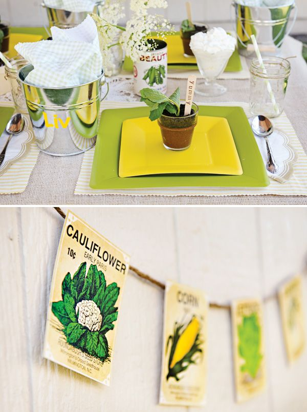 Vintage Farmers Market Garden Party   Berry Picking 3rd or 4th birthday Idea