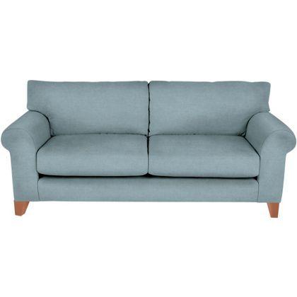 Whittlebury Large Sofa Duckegg Velvet Light Feet