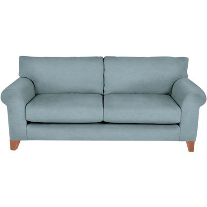 Whittlebury Large Sofa Duckegg Velvet Light Feet